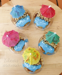 Bandeja cupcake playa